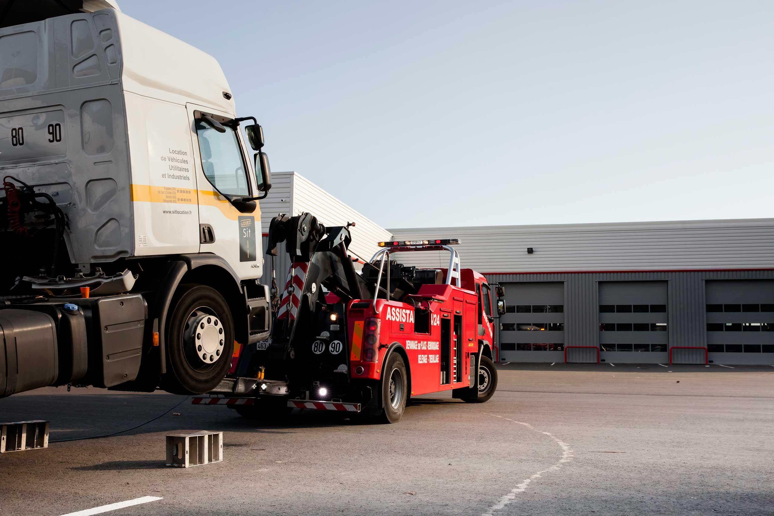 Holowanie pojazdów ciężarowych